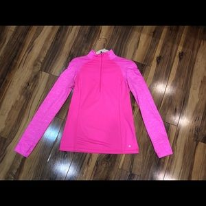 Neon pink zip up